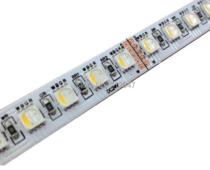 New arrival RGBW LED strip waterproof  24V 5050smd 60LED/m 5m/Roll RGBW LED strip light free shipping(China (Mainland))