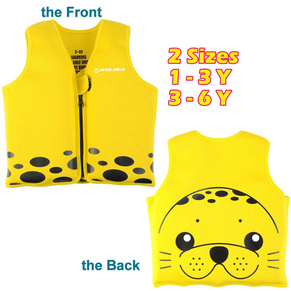 2016 NEW Cartoon Seal Child Life Vest Child Swimming Jacket Swimwear Safety Life Vest Kids Flotation Device(China (Mainland))