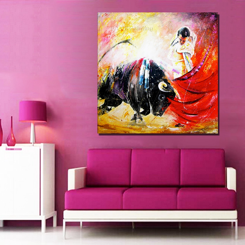 Hand painted oil painting on canvas spain pictures modern for Art painting for home decoration