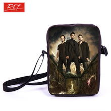Tv Show Supernatural Prints Mini Messenger Bag Young Men Travel Bags Kids School Bags Dean Sam Winchester Book Bag Best Gift(China (Mainland))