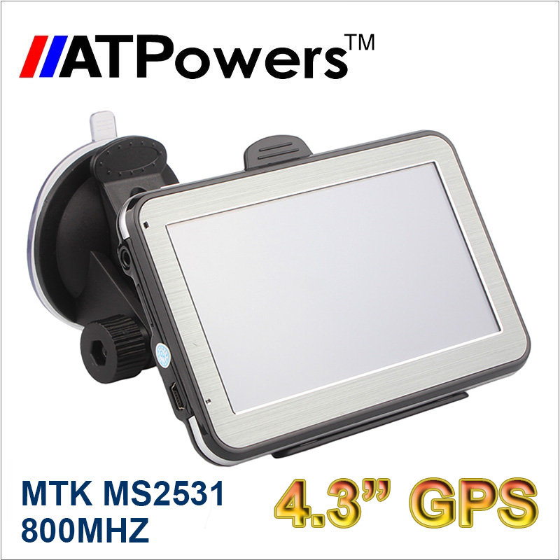 800MHZ High Speed 4.3 inch GPS 128MB 4GB Flash FMT 480*272 car gps navigation Free World maps Russia(China (Mainland))