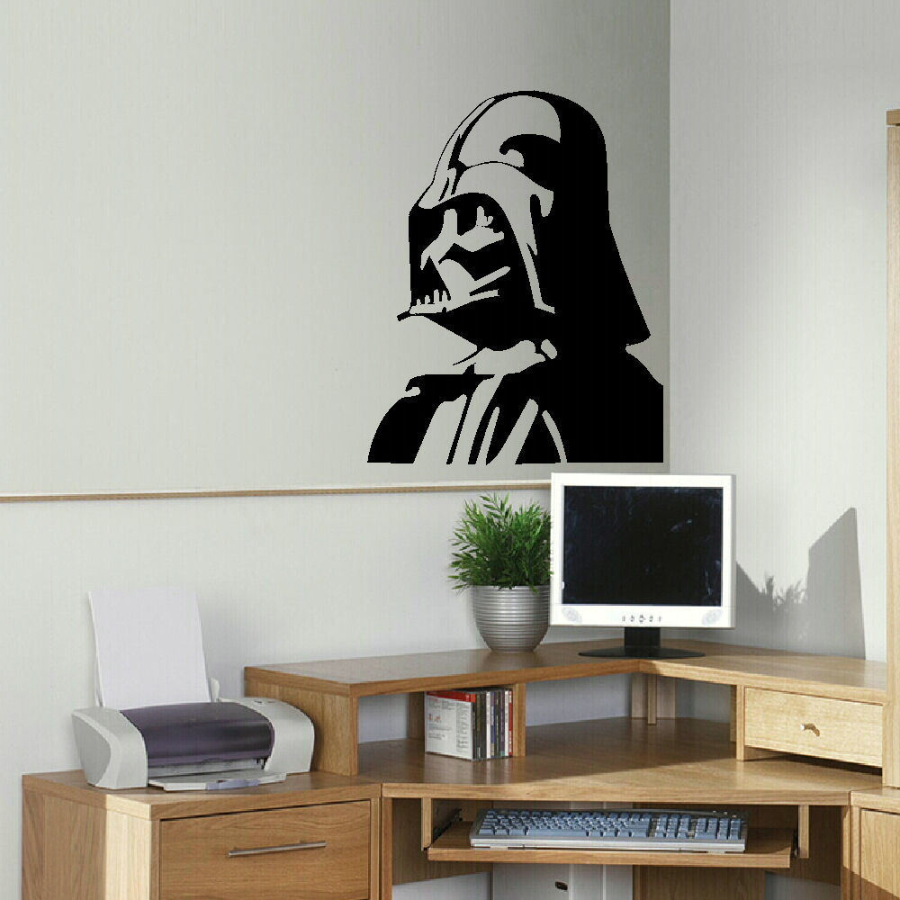large darth vader star wars kitchen bedroom wall mural stencil transfer decal diy wall stickers. Black Bedroom Furniture Sets. Home Design Ideas