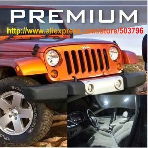 Free Shipping 5pcs Lot White Interior Led Lights For Jeep Wrangler Jk 2 Door Premium 2007