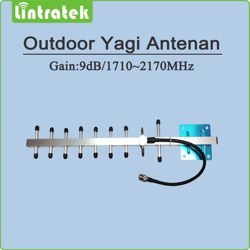 1710~2170MHz Outdoor antenna 9 Units Yagi Antenna for DCS1800Mhz PCS1900Mhz 3G WCDMA cellphone signal repeater(China (Mainland))