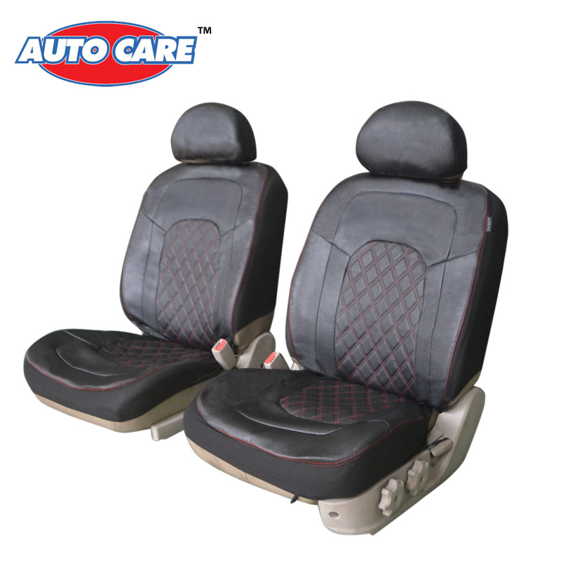 Auto Care Breathable PU Leather Front Car Seat Covers 2pcs