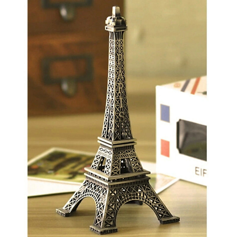 Vintage alloy model decor home office decorations 22cm for Eiffel tower decorations for the home