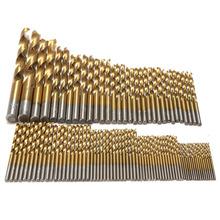 99 stücke Titan HSS Bohrer Beschichtet 1,5mm-10mm Edelstahl stahl HSS HSS Bohrer Für Elektrische Bohrmaschine werkzeuge(China (Mainland))