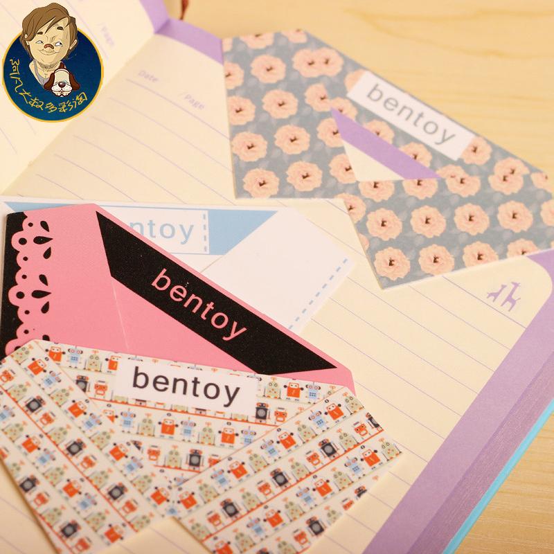 Korea stationery 3428 collar bookmark sweet Bookmarks big bookmark(China (Mainland))