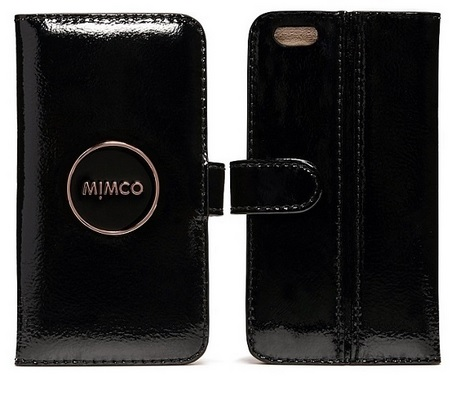 FREE SHIPPING MIMCO MIM POUCH STAND CASE FOR IPHONE 6  BLACK PATENT