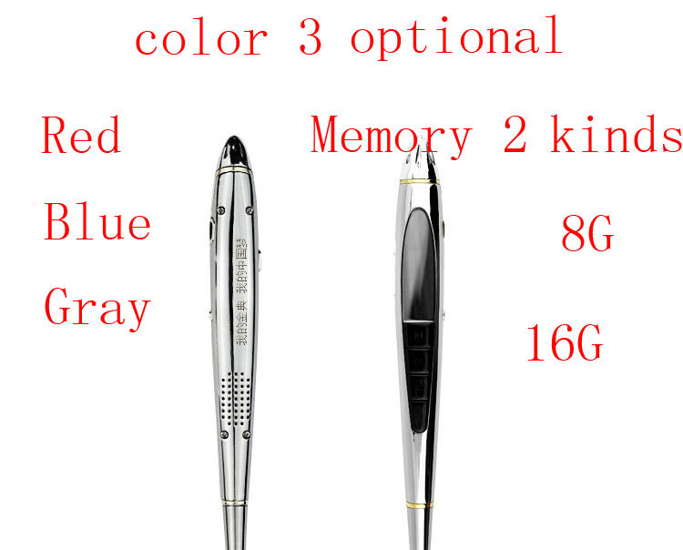 6 in 1 NEW laser USB MEMORY STICK Portable Rechargeable 16GB Digital SPY sound Voice Recorder RECORD Pen Dictaphone 3color(China (Mainland))