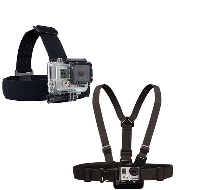 Gopro Hero Elastic Adjustable Wrist Strap Head Strap Chest Belt For GoPro Hero4 3 3+ Session sj4000 for Xiaomi yi   Accessories