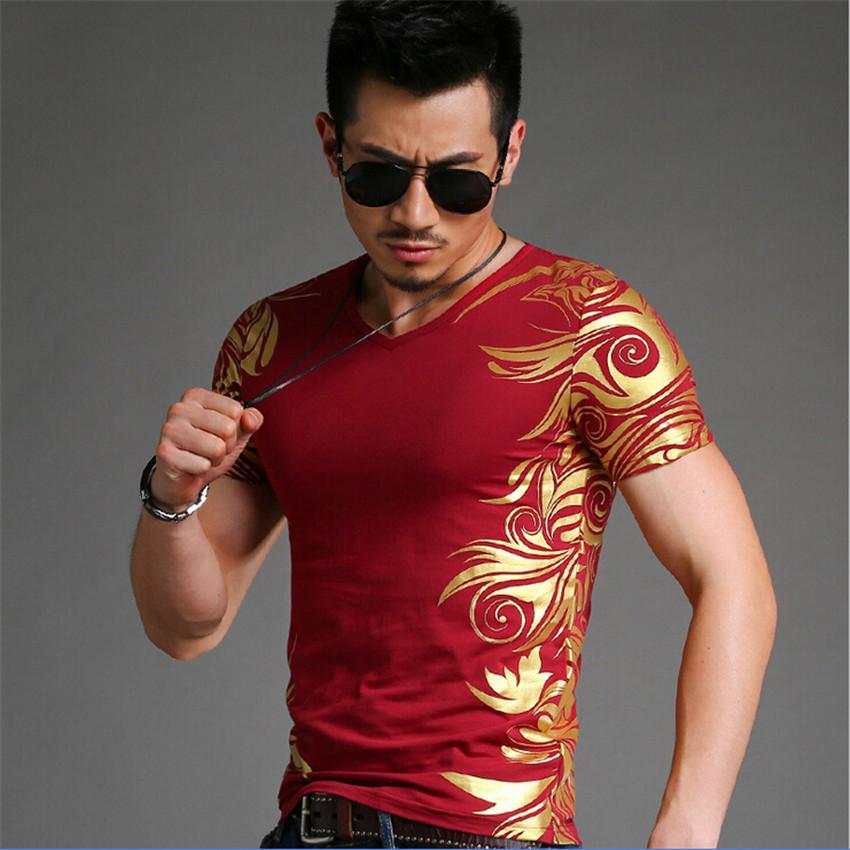 2015 new fashion black skull men's summer casual t shirts short sleeve Hot stamping printing Men T-shirt punk M ~ 4XL(China (Mainland))