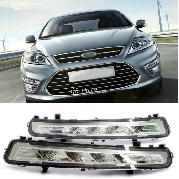 For 2011~2013 Ford MONDEO 2x LED DRL Driving Daytime Running Day Fog Lamp Light(China (Mainland))