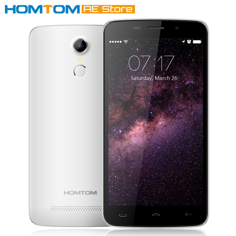 """HOMTOM HT17 Smartphone 4G FDD-LTE Android 6.0 Quad Core MTK6737 5.5"""" 1GB+ 8GB Dual Cameras FingerPrint Quick Charge Mobile Phone"""