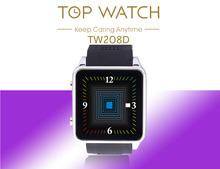 Tw208d déverrouillé Smartwatch 1.5c » tactile Bluetooth GSM SIM téléphone cellulaire montre sans caméra Sync appel SMS pour Android Smartphones