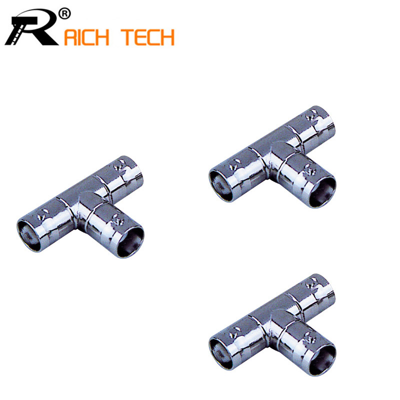 BNC three pass and surveillance video adapter KKK three connector Q9 connector three pass one point two video head 20pcs/lot(China (Mainland))