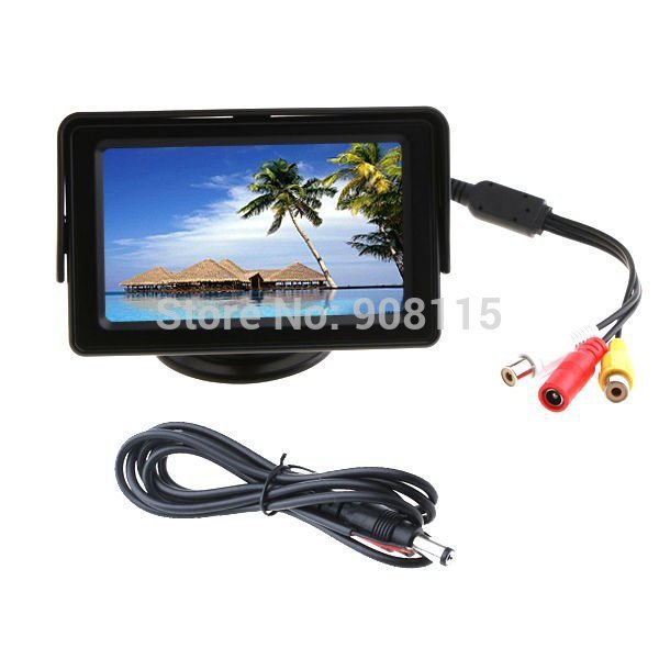 """4.3"""" TFT LCD TV Car monitor Reverse Rear View color headrest Monitor Backup monitor 16:9 car DVD for parking system VCR CCTV(China (Mainland))"""