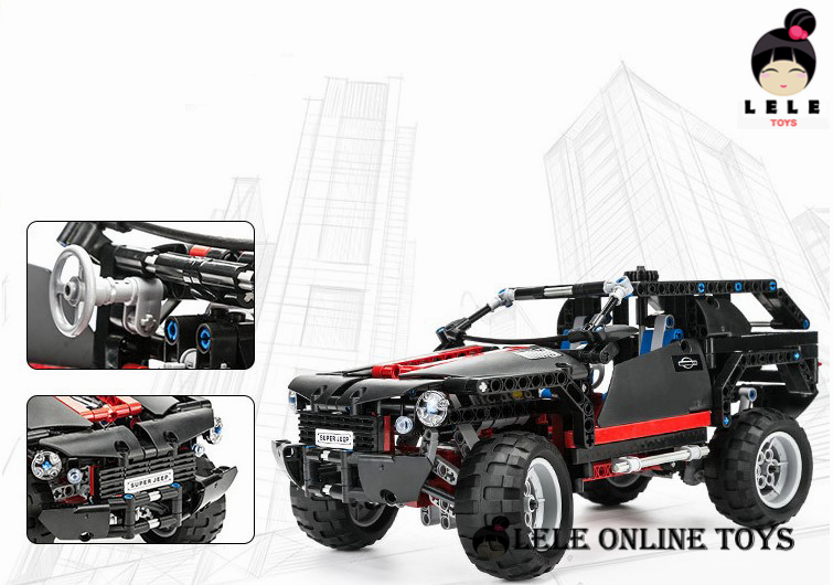 Cruiser SUV Car Building Blocks Compatible with City 589 Pcs Decool Car Styling Models Building Toys Car Scale Bricks