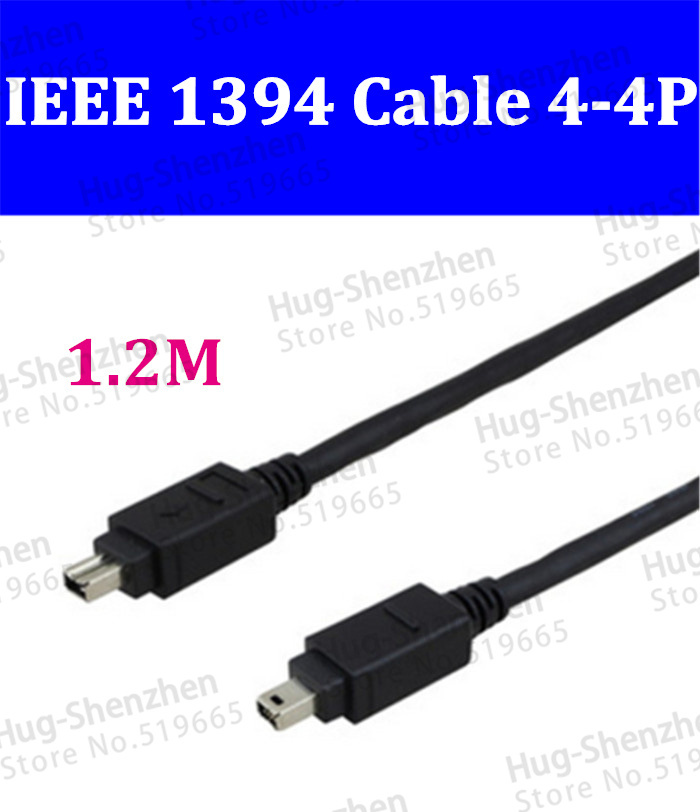 Brand New IEEE 1394 Firewire 400 to 400 Adapter 4 Pin to 4 Pin Connector Cable 1.2M(China (Mainland))
