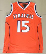 Carmelo Anthony SYRACUSE Jersey, Syracuse #15 Carmelo Anthony Jersey stitched Orange Size S-XXL, fast Shipping()
