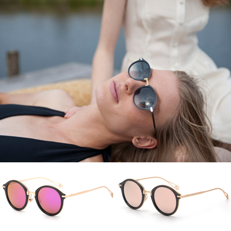 New Summer Style Reflective Glasses Goggles Mirrored Lenses Fashion Exquisite Mens Women Flower Shape Legs Wire Sunglasses(China (Mainland))