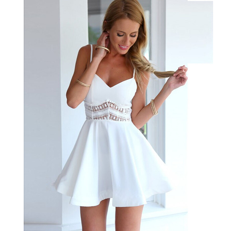White sundress wedding