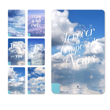 Beautiful Light Portable Sky&White Cloud Design Card Power Bank External Battery 5600mAh For iPhone for Samsung