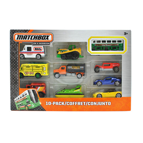 Free Shipping 1:64 MATCHBOX 10-PACK BUS Alloy Collectible Model Toy Car For kids(China (Mainland))