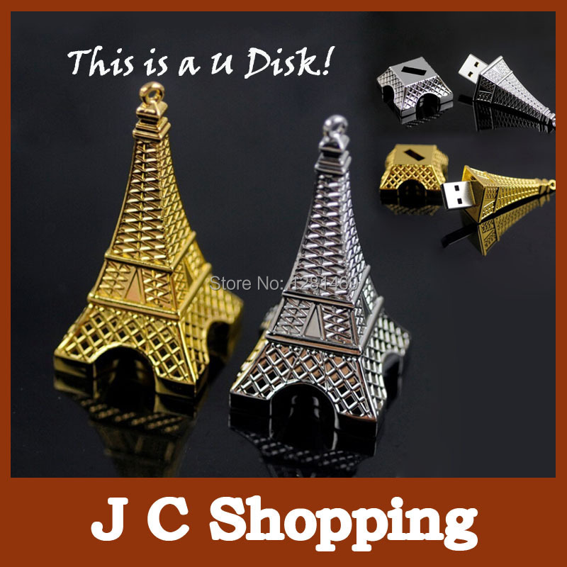 Garunk Retail New Real Capacity Usb Drive The Eiffel Tower Shape 2GB 4GB 8GB Usb Flash Memory Thumb Pendrives U Disk For Gift(China (Mainland))