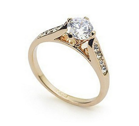Rings 1 Piece Free Shipping Italina Rigant 18K Champagne Gold Rhodium Plated