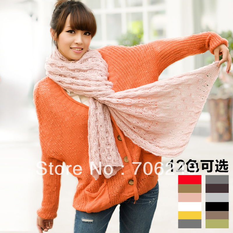 FREE SHIPPING,acrylic scarf, fashion ladies knitting scarf,mohair material,high quality,2012 new design,winter scarves(China (Mainland))