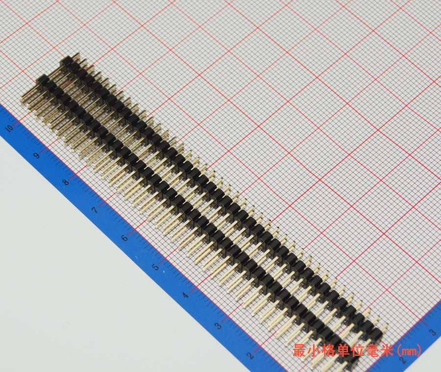 50pcs/lot 2.54mm Board Spacer, 2*40P 25mm Long Pin Header,Straight,Double Row,Double Plastic,High Quality,Gold-Plated, J2051<br><br>Aliexpress