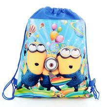 Fashion Cute 3D Despicable Me Minions School Bag Minion Backpack for Children