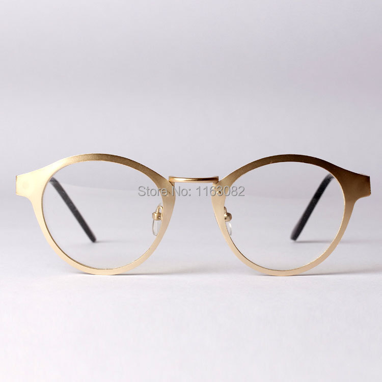 Eyeglass Frames On Your Picture : New retro oversized round optical frames metal glasses men ...