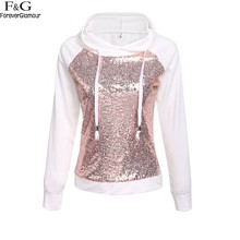 Buy 2017 Autumn Rock Hoodies Sweatshirt Women Sequined Tracksuits Long Sleeve Punk Tracksuits Casual Women Drawstring Pullovers U2 for $10.59 in AliExpress store