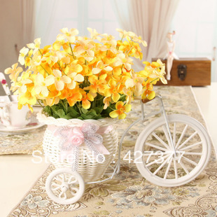 Creative Bowyer Set Bicycle Vase Orchid Artificial Flowers Home Decoration - Li kendy's store