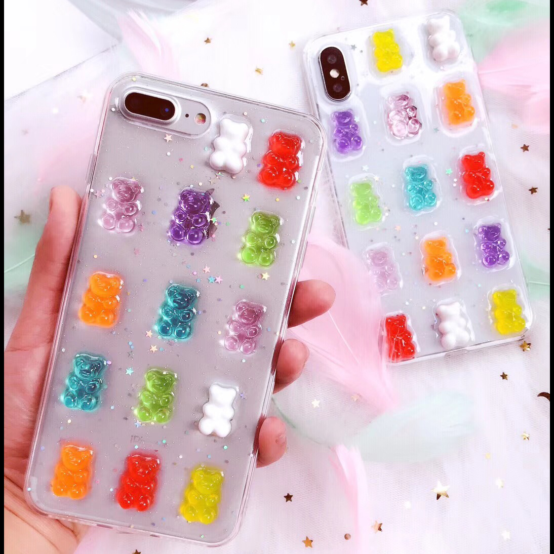 Detail Feedback Questions about Cute 3D Candy Colors Bear Phone Case ... 4ab4bebb35c6