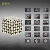 Hot DIY 216pcs Multi color bucky ball diameter Buckyballs Neocube 3mm Magnetic Ball Education Toy 3D