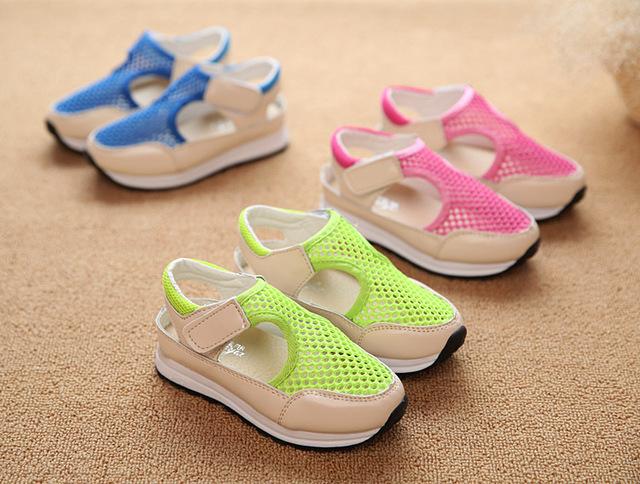 2015 летний новый детская обувь дети бездельники свободного покроя плоские наружные ...