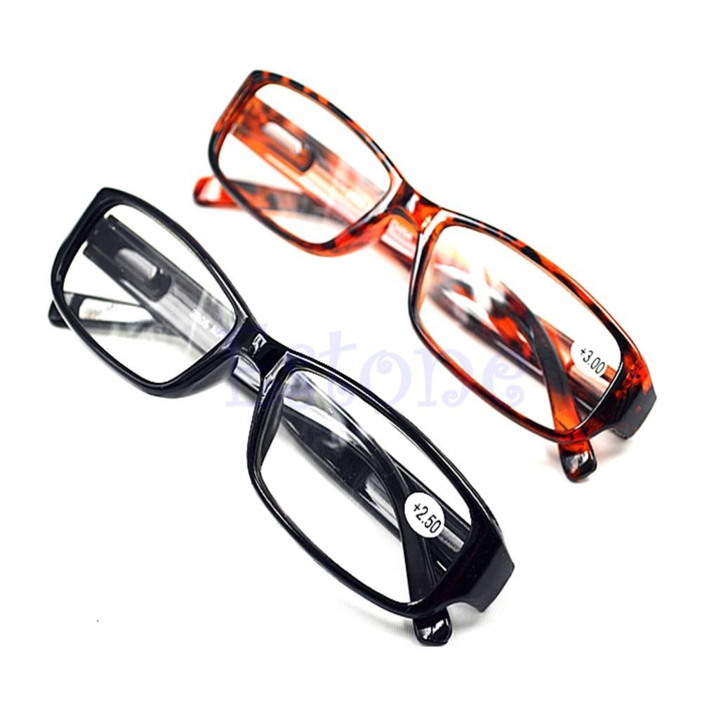 New Comfy Reading Glasses Presbyopia 1.0 1.5 2.0 2.5 3.0 Diopter Black Brown