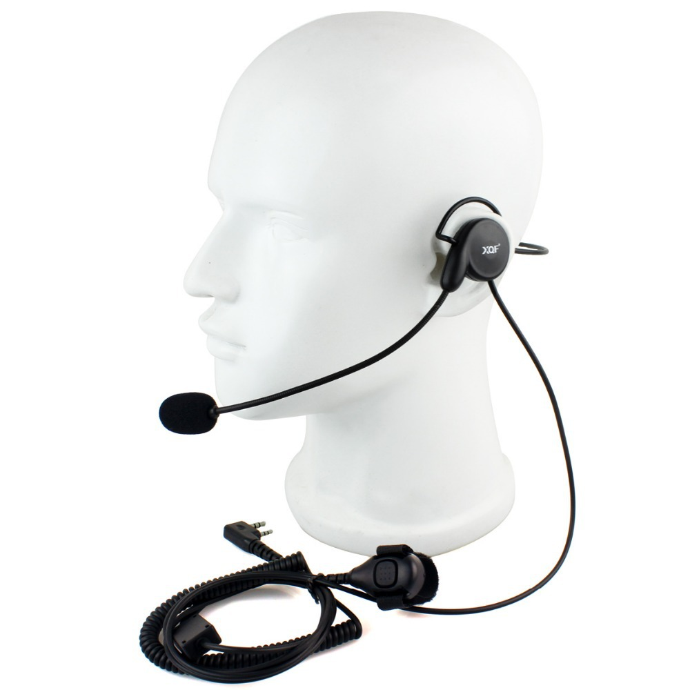 New 2 Pin Earpiece Mic Finger PTT Headset for Kenwood BAOFENG Radios UV-5R 777 888s WOUXUN HYT PUXING High Quality C2014A eshow(China (Mainland))