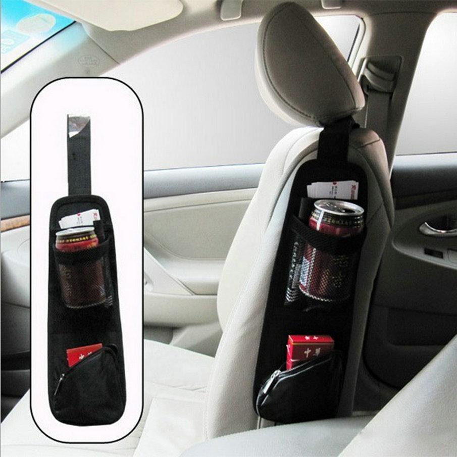 New Waterproof fabric Car Auto Vehicle Seat Side Back Storage Pocket Backseat Hanging Storage Bags Organizer hot sale~(China (Mainland))