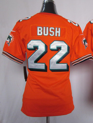 Low Price 22 bush orange women jerseys reggie bush jersey jersey football(China (Mainland))