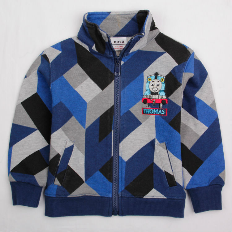 Free shipping High quality! New Nova baby wear print Thomas Casual zip-up jacket for spring autumn wholesale warm coat A4330#<br><br>Aliexpress
