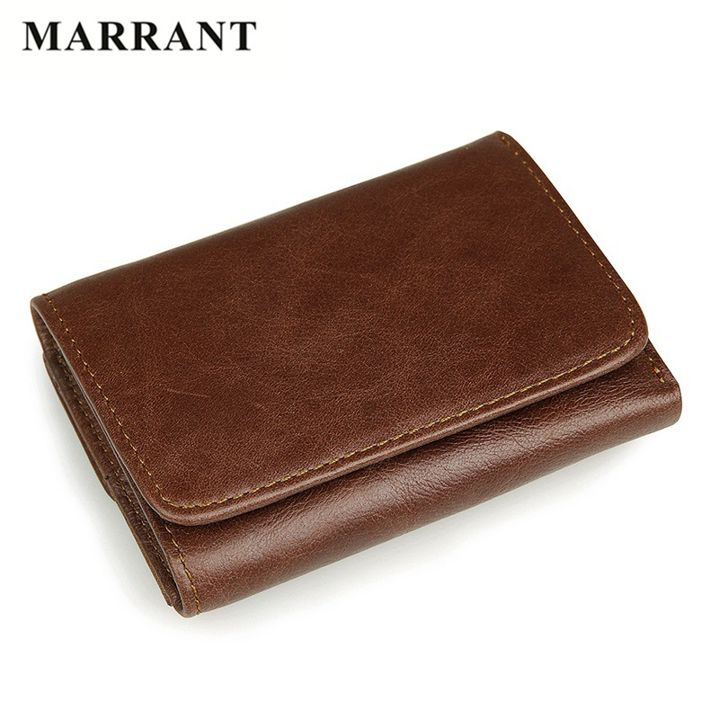 MARRANT RFID Card Holder Men's Genuine Leather Wallet Famous Brand Wallet Men Business Retro Casual Short Purse and Card Holder(China (Mainland))