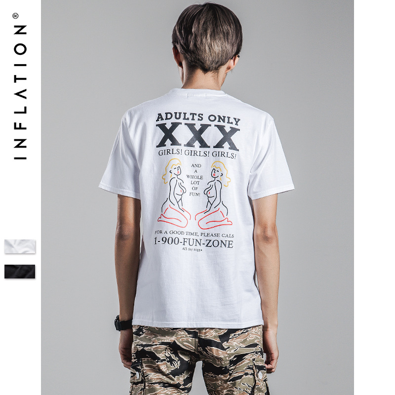 INF men's  2016 summer new tide brand men's XXX spoof printing Limited cotton T-shirt(China (Mainland))