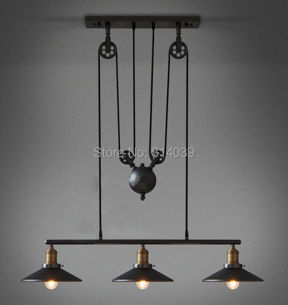 Vintage Loft Industrial Led American Country Ceiling Lamp