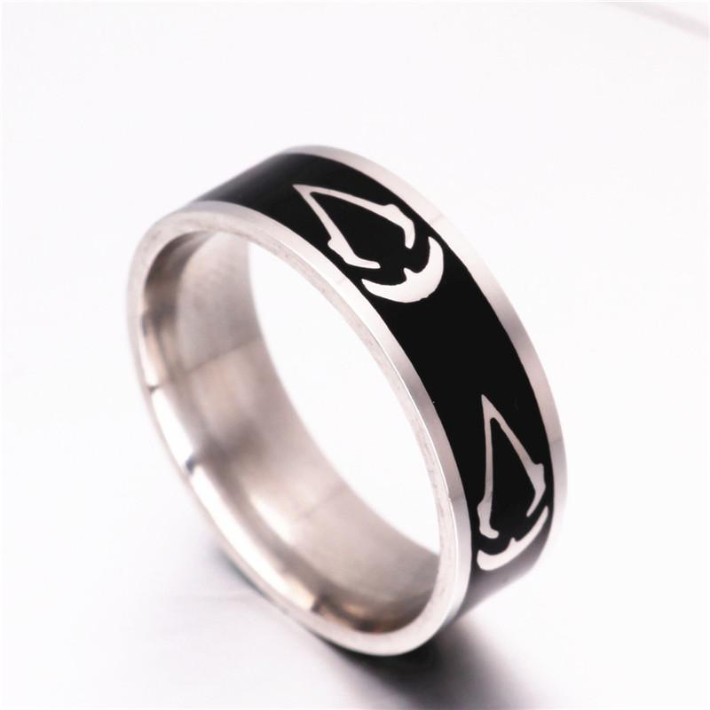 titanium steel assassins creed ring size 713 assassins