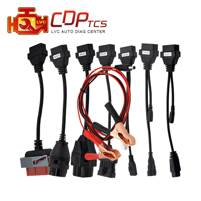 High quality Full set car 8 cables for cdp tcs Plus mvd Multidiag pro OBD2 car leads diagnostic-tool interface OBD II scanner(China (Mainland))