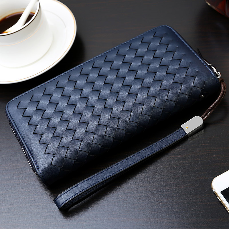 hermes fake - Aliexpress.com : Buy Mens Handbag Weaving Mens Wallet Multi ...
